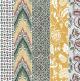 Quelques types de motifs ancien pour papiers dominotés